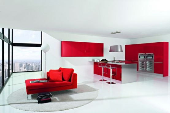 Kitchens decorated in red (15)