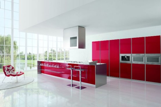 Kitchens decorated in red (17)