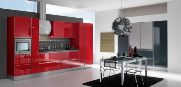 Kitchens decorated in red (6)
