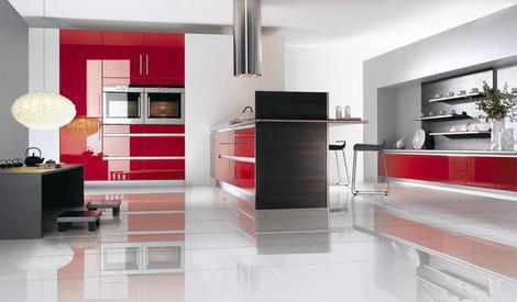 Kitchens decorated in red (7)