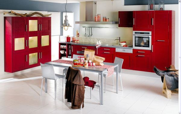 Kitchens decorated in red (8)
