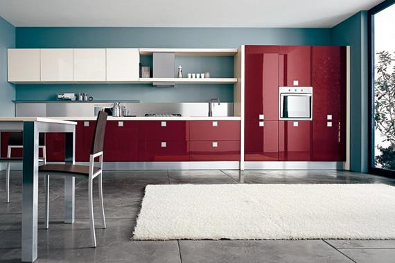 Kitchens decorated in red (9)