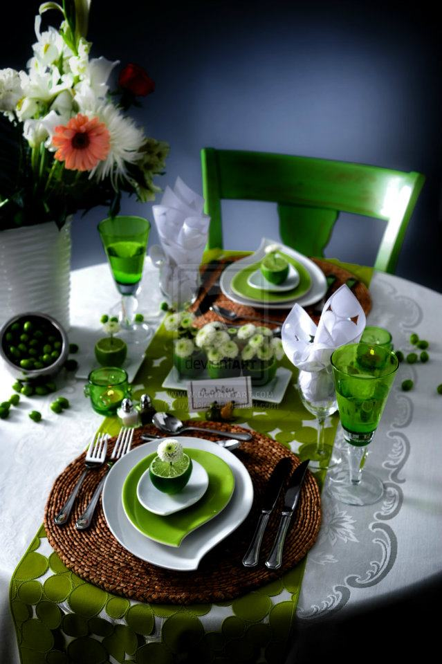 The art of decorating the dining table6