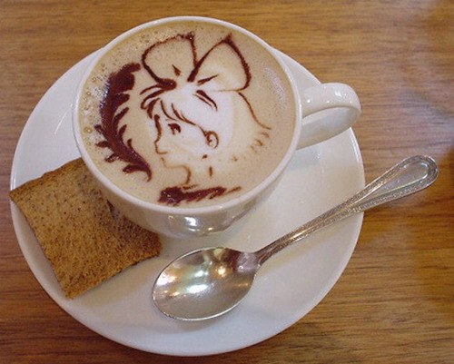 The art of painting on coffee1