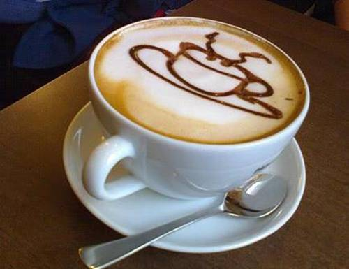 The art of painting on coffee8