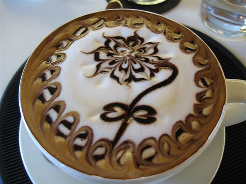 The art of painting on coffee9