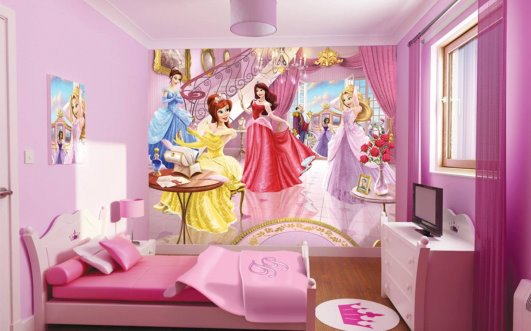 Wallpapering decorations for children's bedrooms (4)