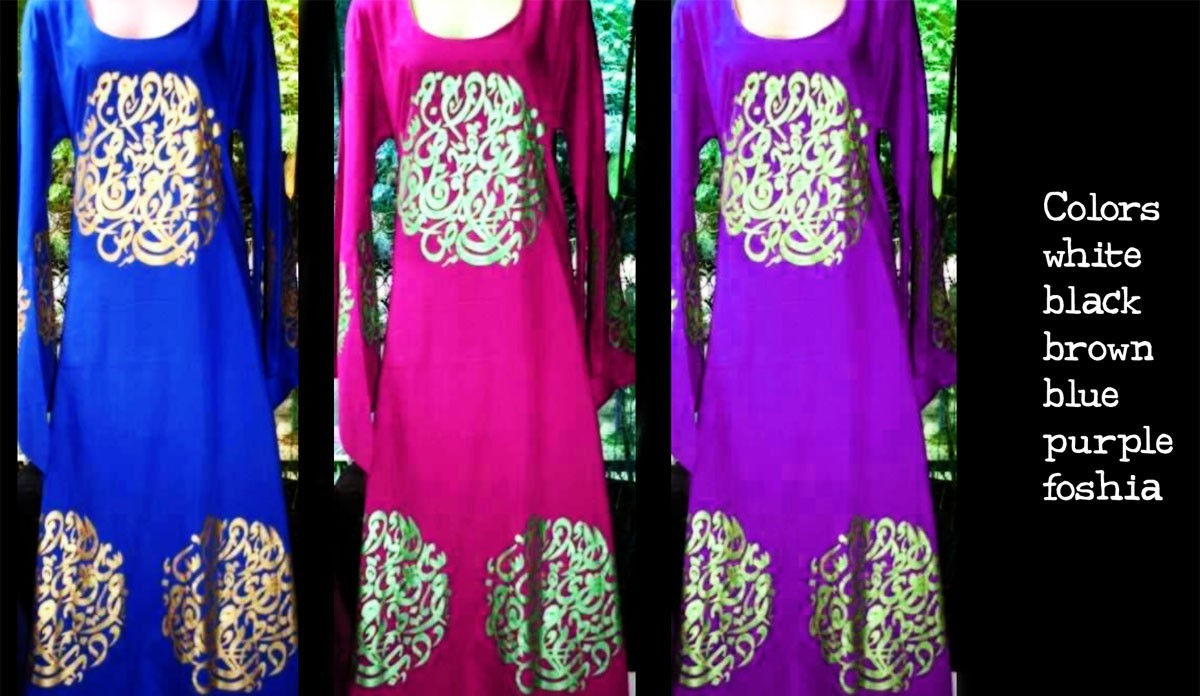 women arabic writing printed clothes5