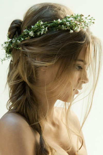 Elegant hairstyles for the bride (4)