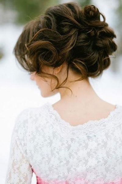 Elegant hairstyles for the bride (6)