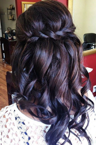 Elegant hairstyles for the bride (8)