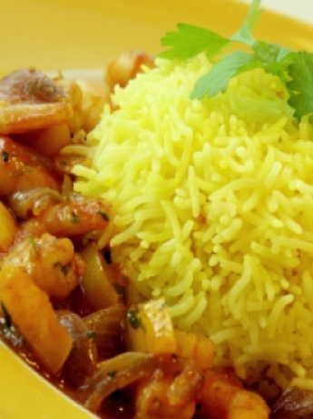 Yellow basmati rice