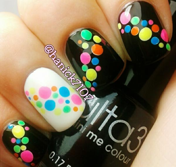 rainbow-dotted-black-and-white-nails