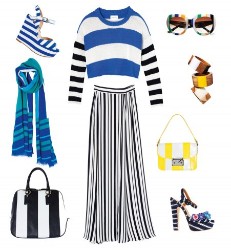 the striped clothing and Accessories