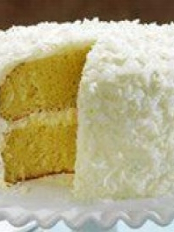 Coconut Cake with stones