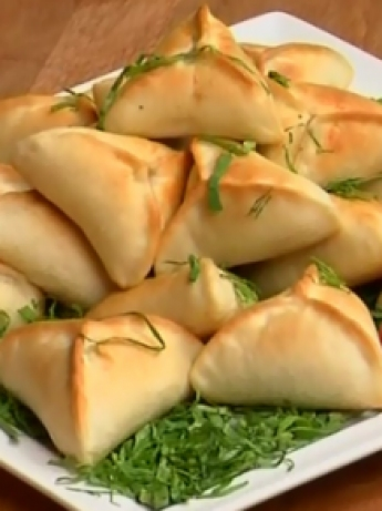 Spinach pastries and cheese