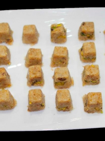 Kunafah cubes with pistachio