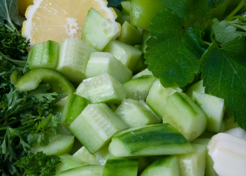 mint and cucumber