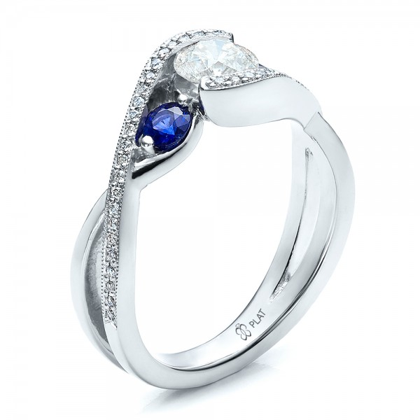 Custom-Blue-Sapphire-and-Diamond-Engagement-Ring