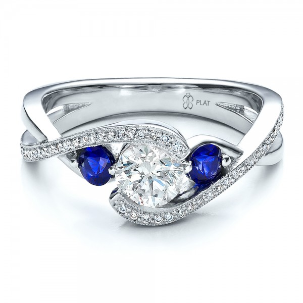 Custom-Blue-Sapphire-and-Diamond-Engagement-Rings