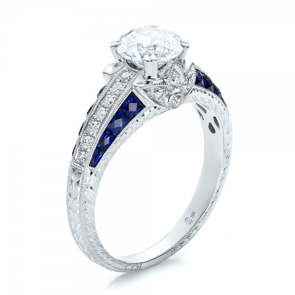 Diamond-Blue-Sapphire-Engagement-Ring
