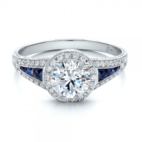 Diamond-Halo-and-Blue-Sapphire-Ring