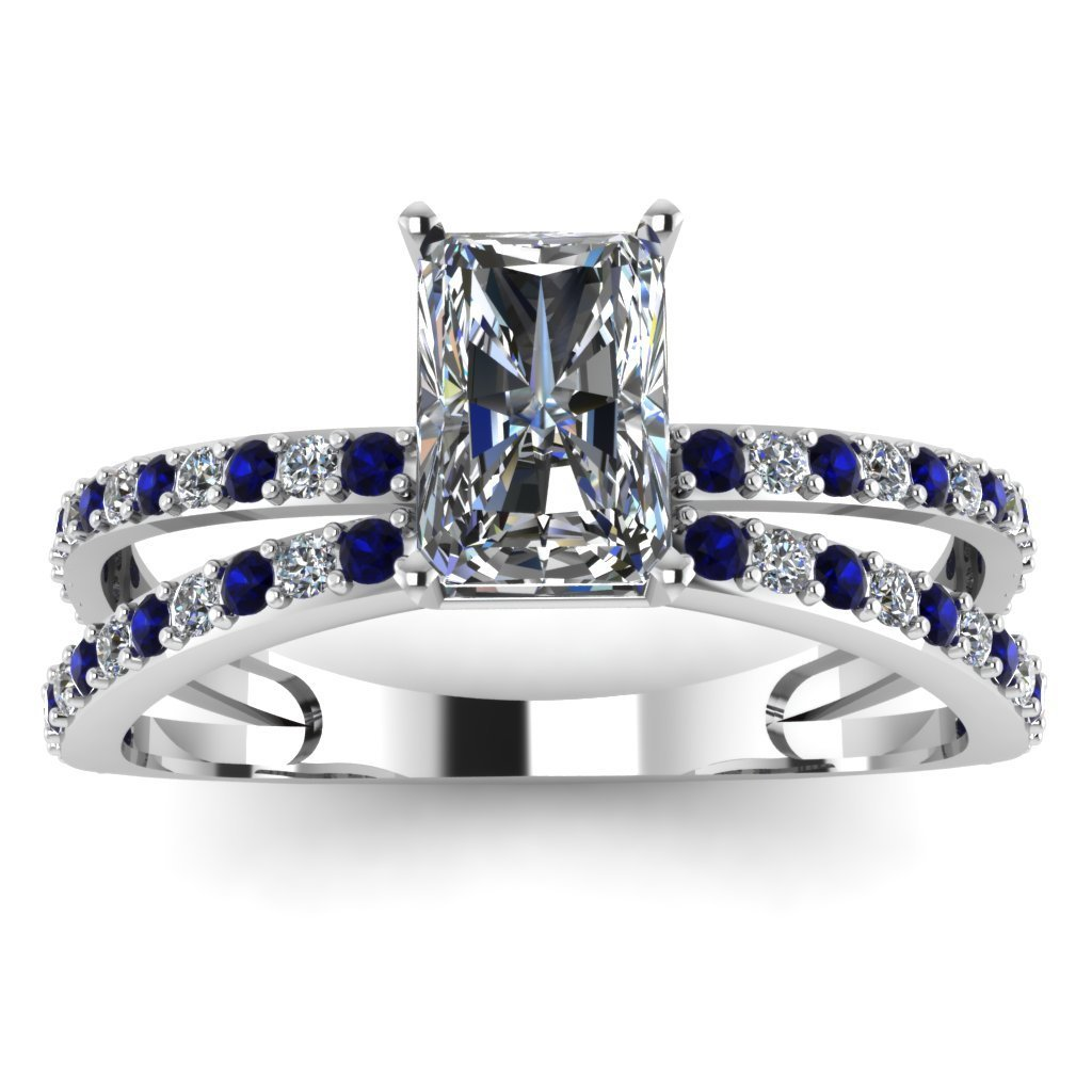 Radiant-Round-Blue-Sapphire-Engagement-Ring