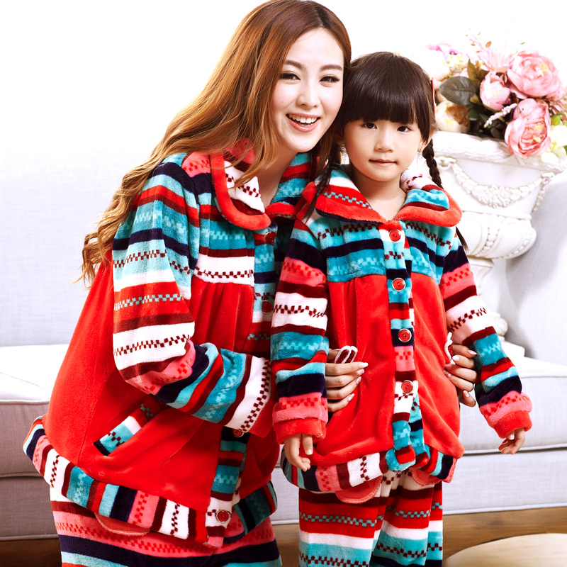 Winter-clothes-for-font-b-mother-b-font-and-font-b-daughter-b-font-sleepwear-women