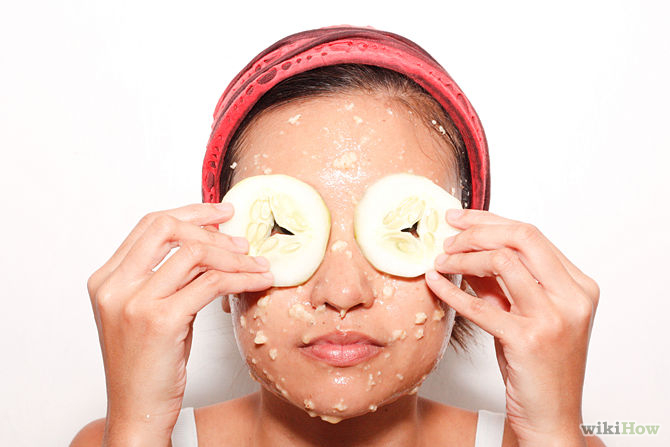 670px-Make-a-Cucumber-and-Oatmeal-Facial-Step-6