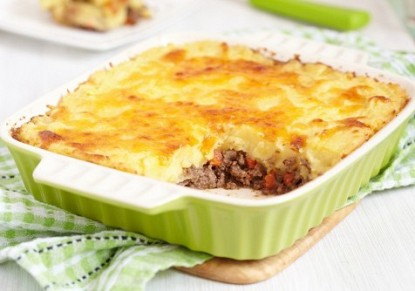 Mashed potatoes with minced meat