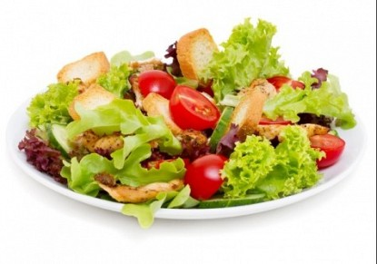 Caesar salad with almonds