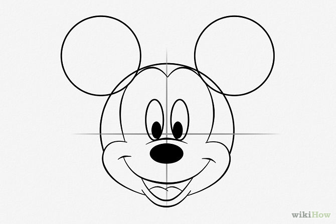 Mickey mouse draw step by step for How to draw with a mouse