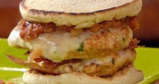 Burger chicken with vegetables