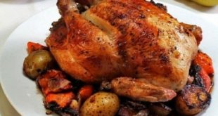 Chicken stuffed with vegetables