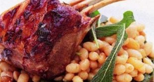 Rib lamb stuffed with herbs
