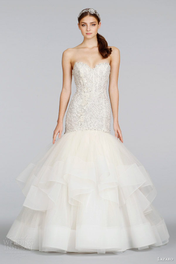 lazaro-2014-bridal-champagne-beaded-embroidered-strapless-fit-flare-wedding-dress-style-3410