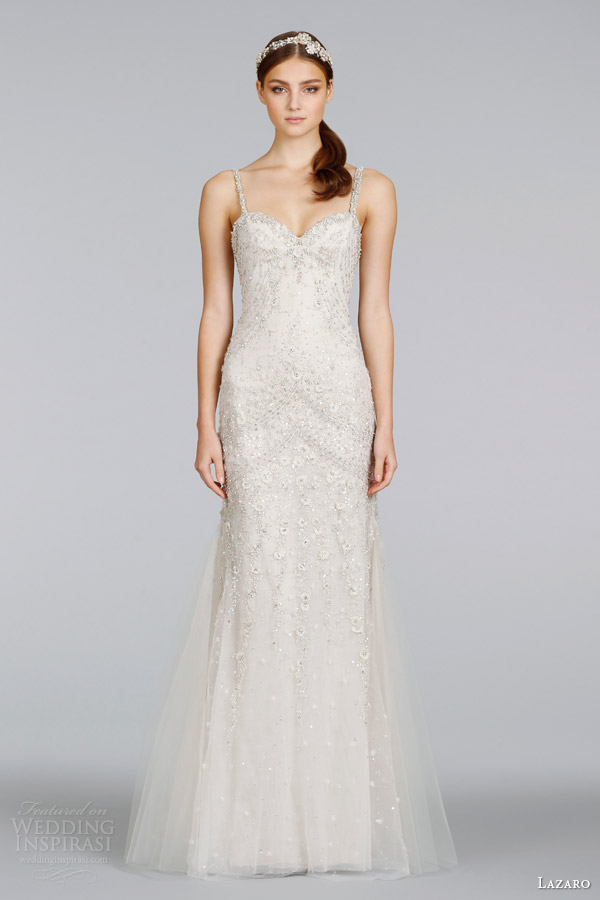 lazaro-bridal-spring-2014-champagne-beaded-wedding-dress-with-straps-style-lz-3405
