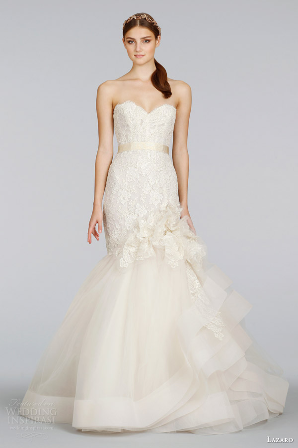 lazaro-bridal-spring-2014-strapless-gold-lace-wedding-dress-style-lz-3415