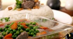 Peas with chopped meat