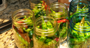 Pickled peppers stuffed