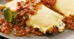 Crepe cannelloni with minced meat