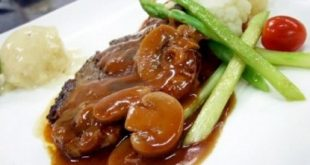 Steak with mushroom