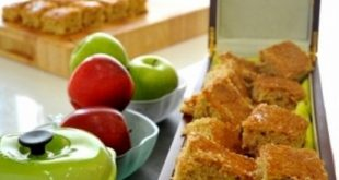 Diced apple with ginger