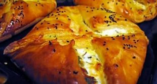 Alpf pastry with cheese and broccoli