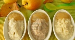 Mash apples and pears for children
