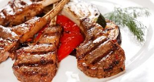 Grilled sheep blades