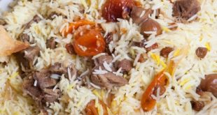 Biryani rice with meat